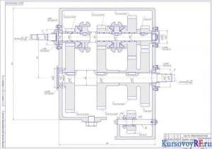 Коробка передач сборочный чертеж (формат А1)