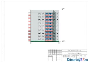 Фасад 1-8 М 1:200