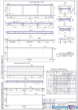 Плита перекрытия ПР 62-15 М 1:25, Плита перекрытия ПК59-15 М1:30, Спецификация и выборка арматуры