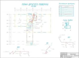 5.План 2 этажа. аксонометрические схемы вентиляции В5, В10, В11