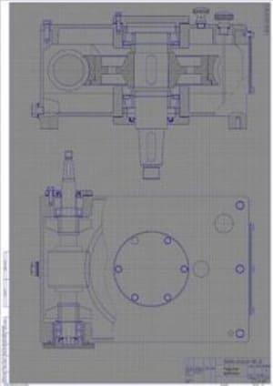 5.Эскиз червячного редуктора на миллиметровке А1