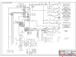 Схема скелетная электроснабжения варочно-промывного цеха (формат А1)