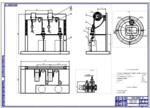 Установка для доливки или замены масла любых сортов в агрегаты машин (общий вид – А1)