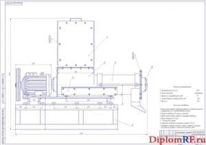 Сборочный чертеж 1 измельчителя кормов (формат А1)