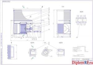 Чертеж установка для очистки воздуха (формат А1)