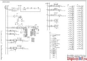 Чертеж электрической схемы принципиальной (формат А1)