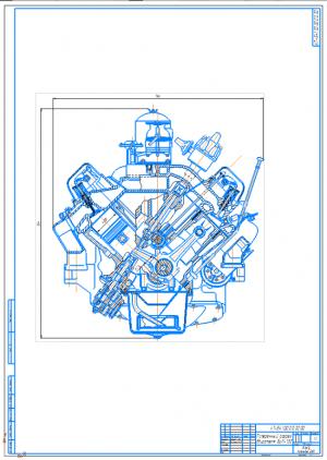 6.Поперечный разрез двигателя ЗИЛ-130 А1