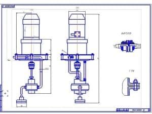 Сборочный чертеж  (формат А1)