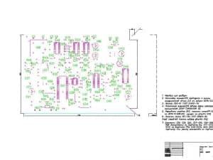 Схема электрическая принципиальная платы  (формат А1)
