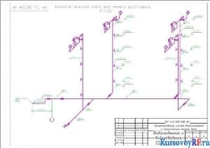 Аксонометрическая схема внутреннего водопровода