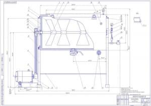 7.Ванна для подготовки компонентов творожной массы, сборочный чертеж А1