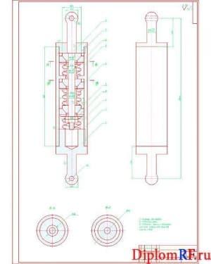 Чертёж сборочный демпфера пружинного (формат А1)
