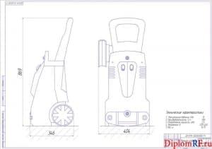 Чертёж конструкции моечной установки (формат А1)