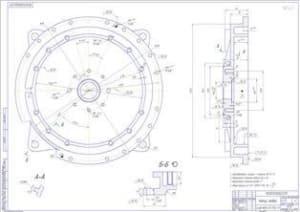 Рабочий чертеж корпуса правого (формат А1)