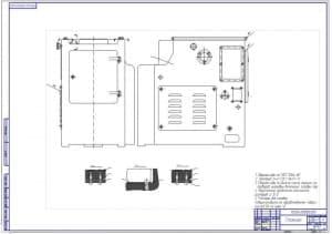 Сборочный чертеж станины станка (ф.А1)