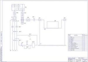 Электромеханическая схема стенда (ф.А1)