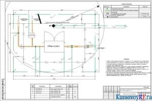 Чертеж площадки узла ГРПШ-13-2НУ1 №2 и ГРПШ 32К/10 №3 наружных сетей газоснабжения