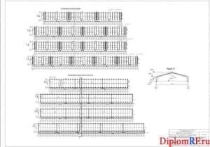Схема расположения монолитных стен (формат А1)