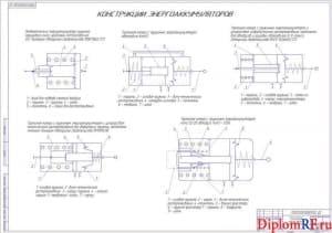 Схема обзор конструкций исполнительных тормозных механизмов (формат А1)