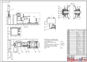 Чертёж сборочный стенда обкаточно-тормозного (формат А1)