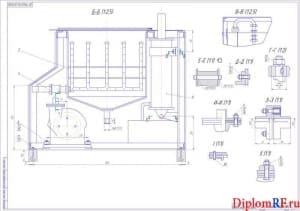 Чертёж сборочный универсальной моечной установки (формат А1х2)