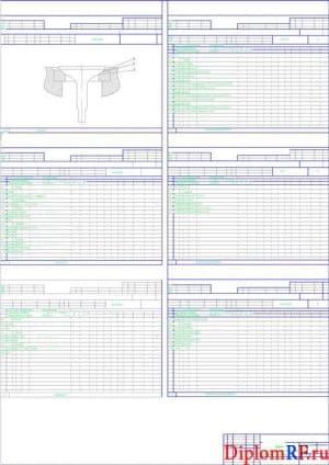 Чертеж карты процесса технологического притирки клапанов (формат А1)