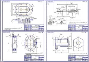 Рабочие чертежи деталей конструкции (деталировка)  (формат А1)