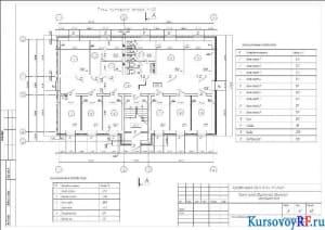 План типового этажа М:100