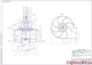 Сборочный чертеж центробежного насоса (формат А1)