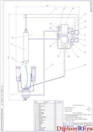 Сборочный чертеж манипулятора переносного (формат А1)