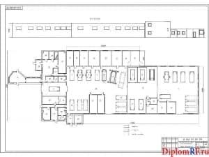 Схема производственный корпус после реконструкции (формат А1)