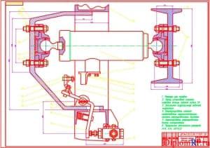 Чертеж подъемного механизма (формат А1)
