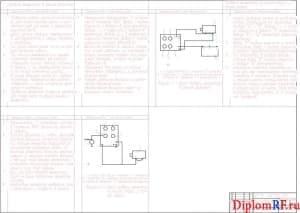 Чертёж карты диагностики генератора автомобиля (формат А1) + Автокад