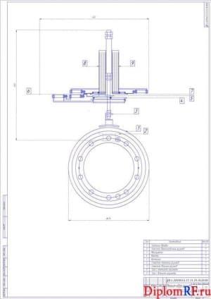 Чертеж общего вида механизма набора грузиков (формат А1)