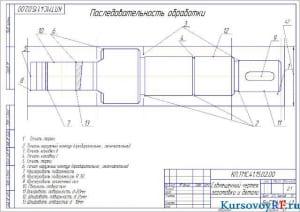 Чертеж совмещенный чертеж заготовки и детали (формат А 3 )