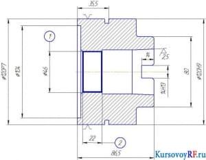 Разработка развертки насадкой 120Н9/120Р7