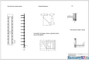 Чертеж расчетной схемы каменного остова здания. Расчетная схем Несущего элемента балкона