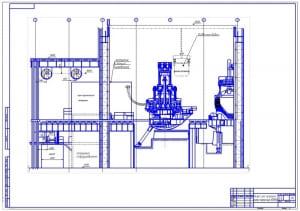 9.Цех чугунного литься мощностью 60000 тонн в разрезе А1
