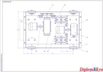Чертеж сборочный подъемник электромеханический – 3 листа (формат А1х3)