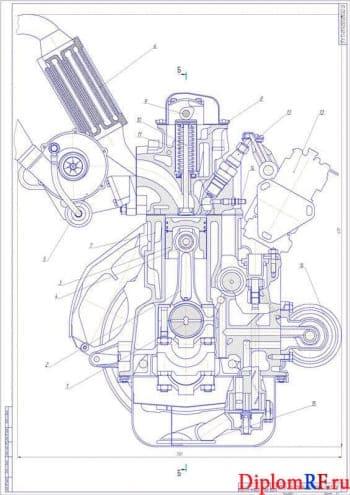 Проект дизельного двигателя для автомобиля малого класса мощность 90 кВт с разработкой системы выпуска