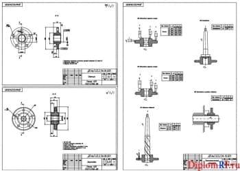 Чертеж деталей: ступица, заготовка и маршрута технологического (формат А1)