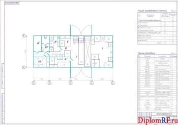 Схема пункт технического обслуживания и ремонта (формат А1)
