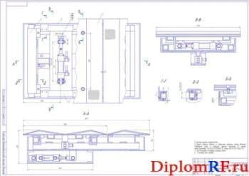 Сборочный чертеж площадки (формат А1)