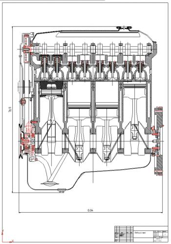 Проект четырехтактного четырехцилиндрового дизельного двигателя микроавтобуса