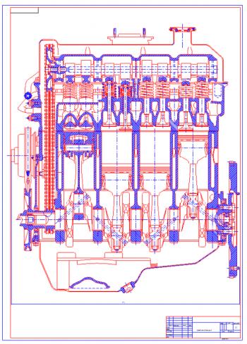 Проектирование двигателя ВАЗ-2103 с тепловым и динамическим расчетом