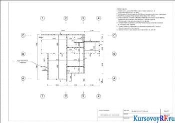 План стен первого этажа