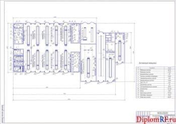 Чертеж комплекса производственного существующего (формат А1)