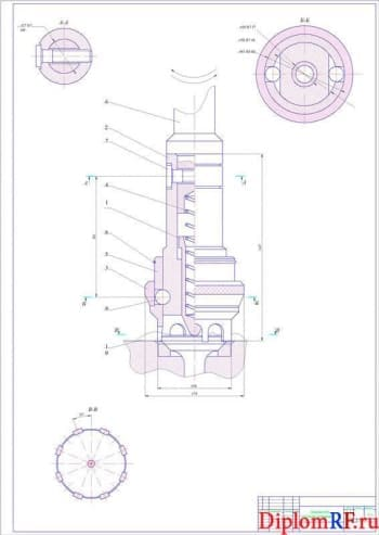 Чертеж поводка для притирки клапанов (формат А1)