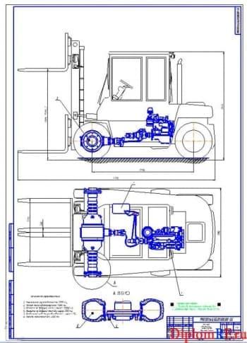 Модернизация вилочного авто-погрузчика с целью повышения эксплуатационных свойств