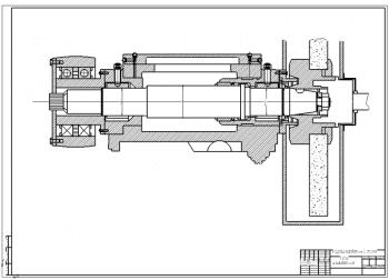 Проект шпиндельной бабки шлифовального круга для кругло-шлифовального полуавтомата: прототип - станок 3А151